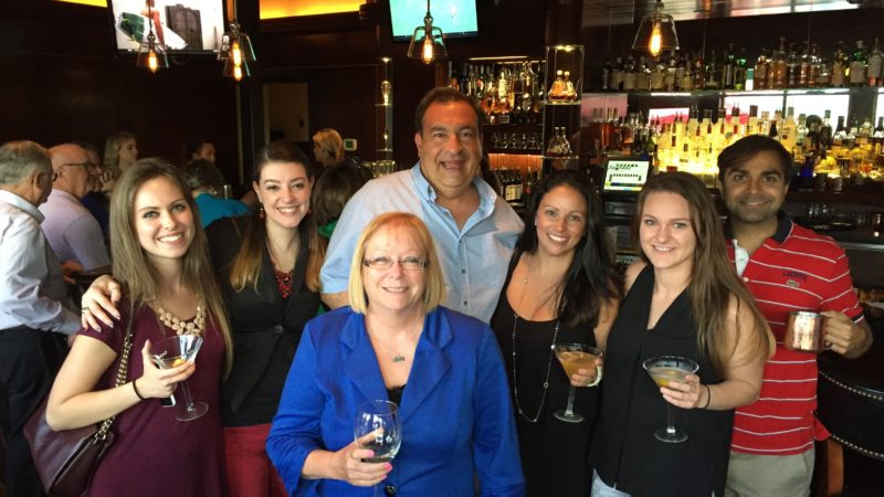 Tarabicos Grosso hosts firm-wide cocktail hour and dinner party to celebrate paralegal Rachel Thompson's 40th birthday!
